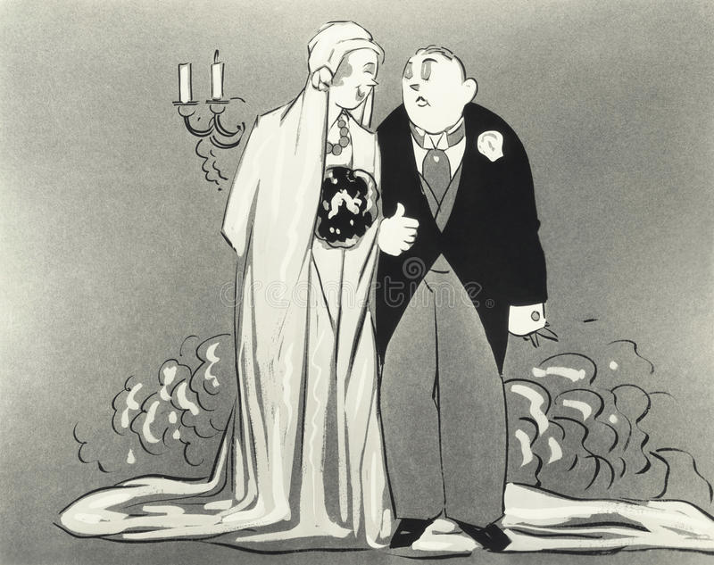 Ilustração dos noivos ilustração stock