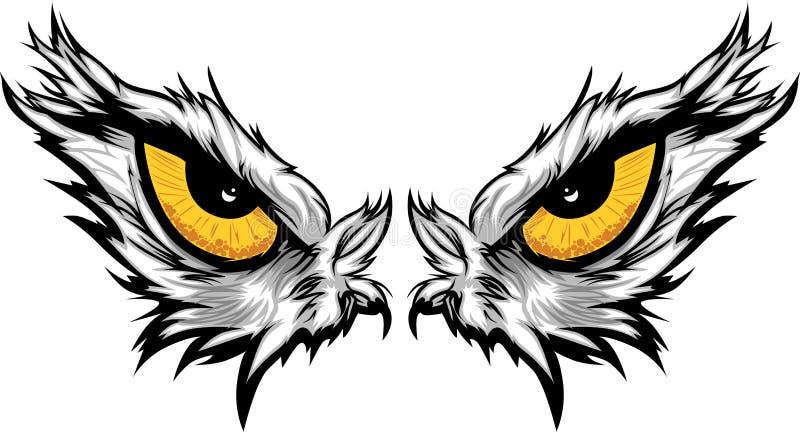 Ilustração dos olhos de águia ilustração do vetor
