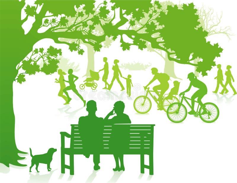 No parque verde ilustração stock