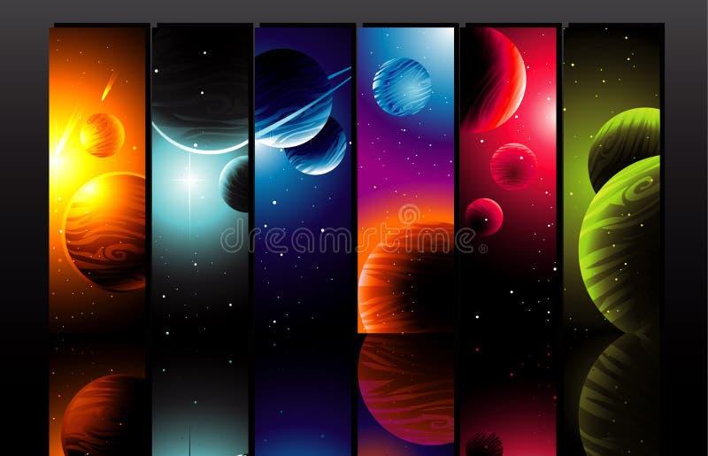 Ilustração dos planetas ilustração royalty free