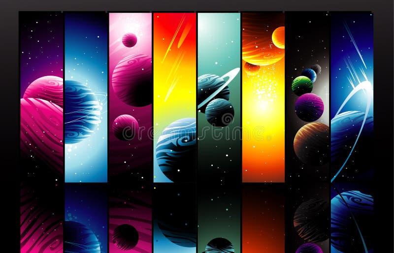 Ilustração dos planetas ilustração stock