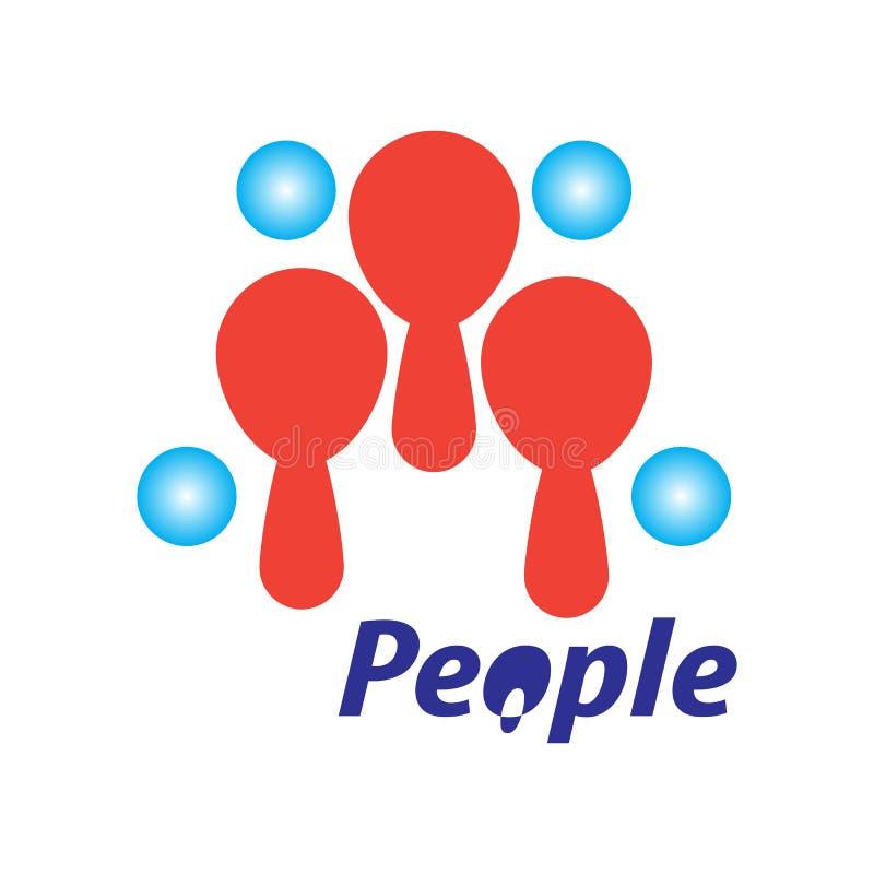 Ilustração dos povos Com um fundo branco ilustração stock