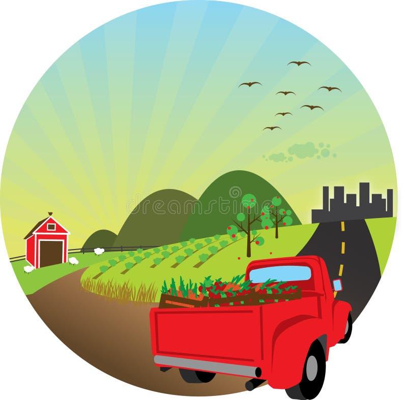 Ilustração dos produtos frescos da exploração agrícola ilustração stock