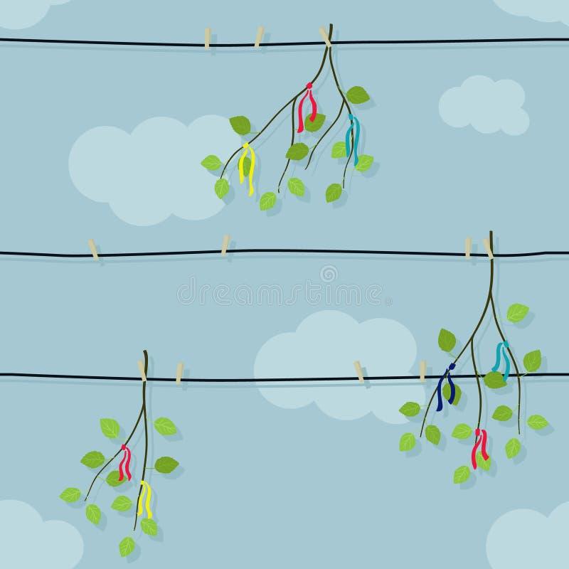 Ilustração dos ramos do vidoeiro ilustração royalty free