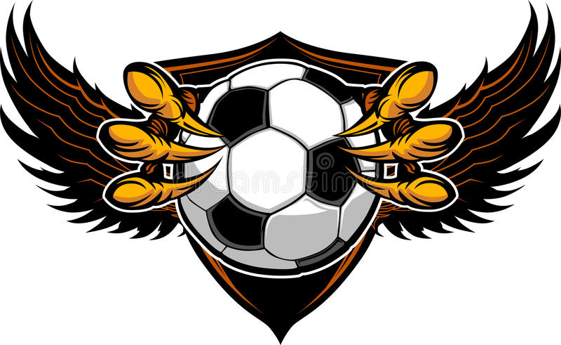 Ilustração dos Talons e das garras do futebol da águia ilustração stock