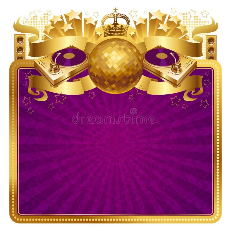 Ilustração dourada do disco ilustração royalty free