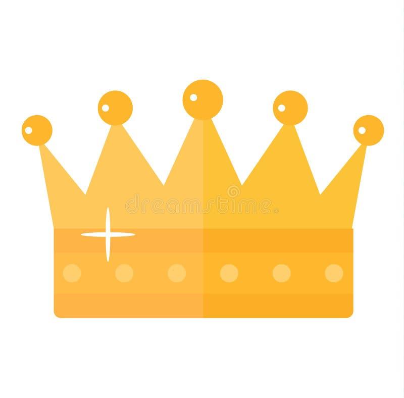 Ilustração dourada do vetor da coroa ilustração royalty free