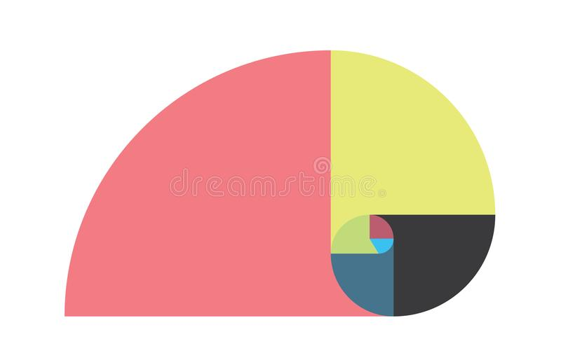 Ilustração dourada do vetor do molde da relação ilustração stock