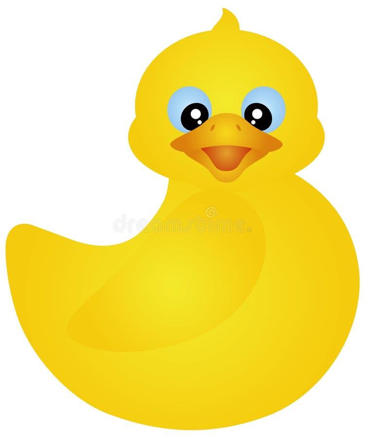 Ilustração Ducky de borracha da natação ilustração stock
