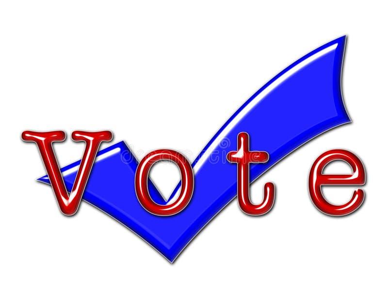 Ilustração e sinal do voto ilustração stock