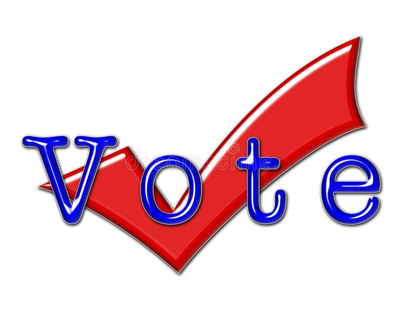 Ilustração e sinal do voto ilustração royalty free