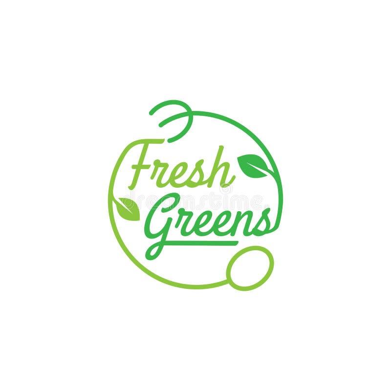 Ilustração Eco-amigável do vetor do conceito do projeto do logotipo da folha da árvore ilustração royalty free