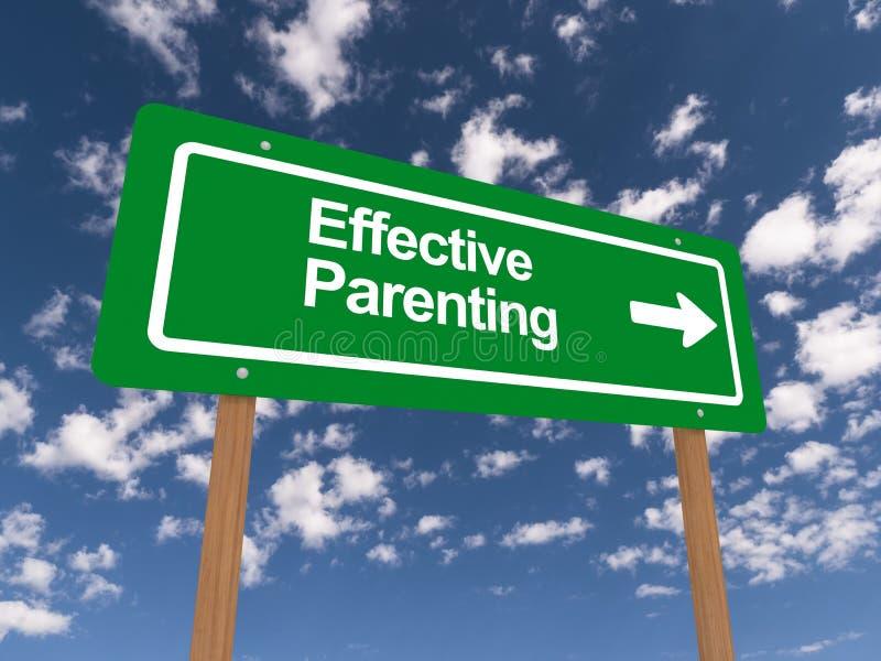 Ilustração eficaz do parenting ilustração stock