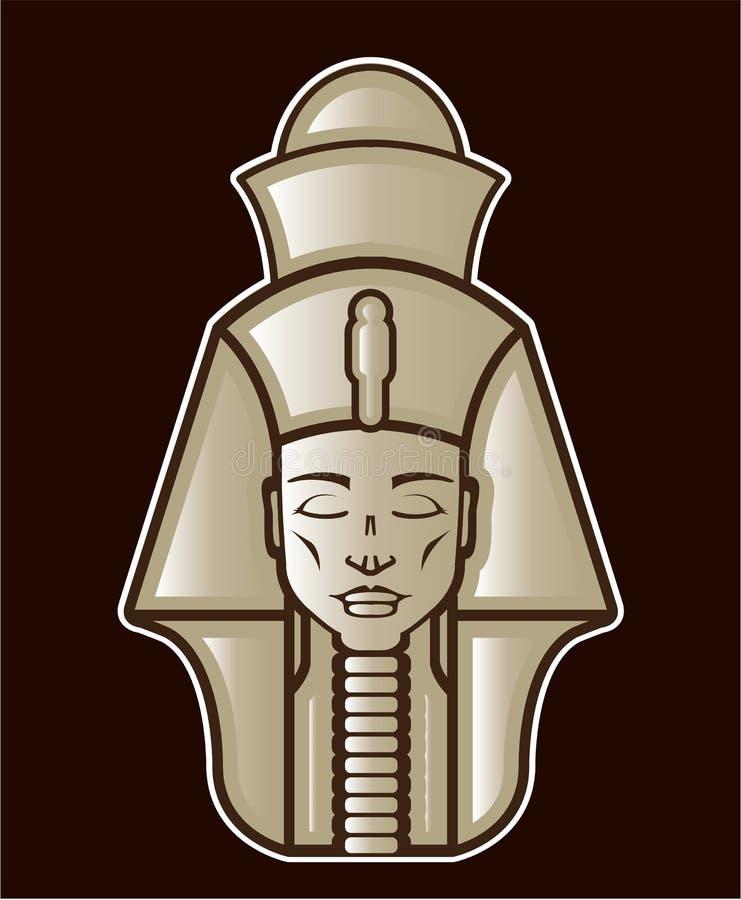 Ilustração egípcia do vetor das réguas do faraó original ilustração do vetor