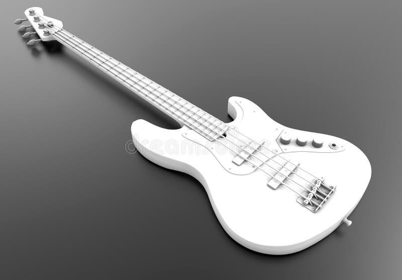 Ilustração elétrica da guitarra-baixo ilustração royalty free