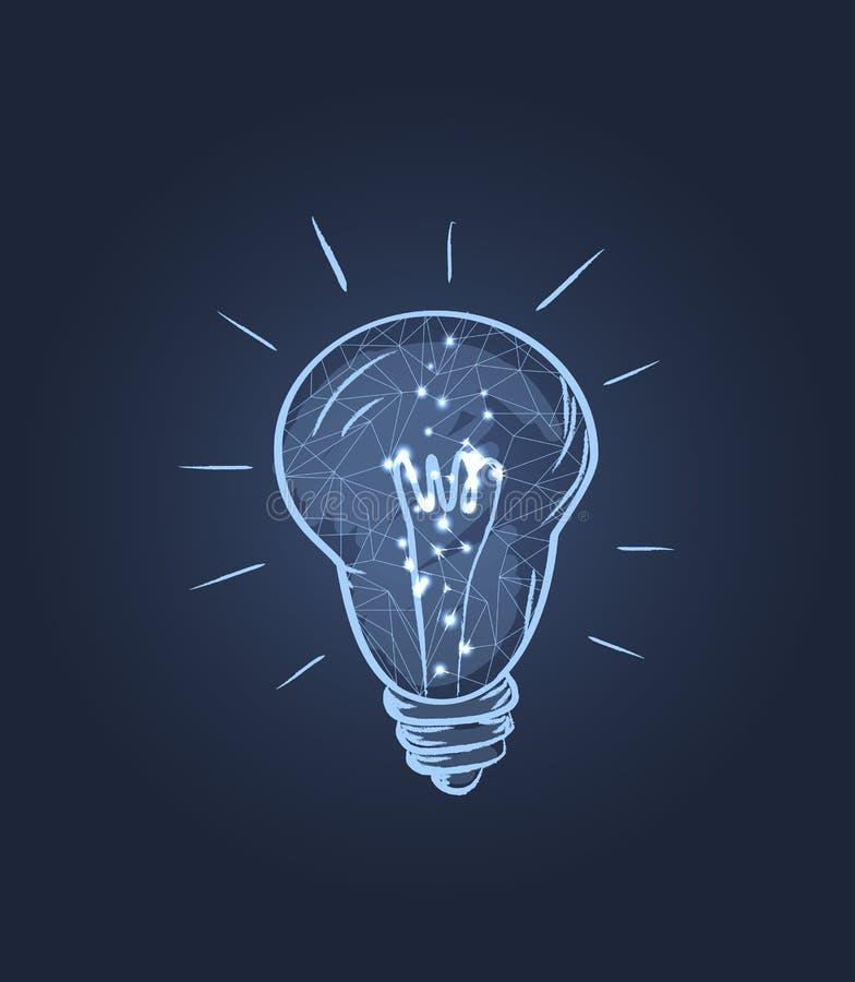 Ilustração elétrica de incandescência do vetor do ícone do bulbo ilustração stock