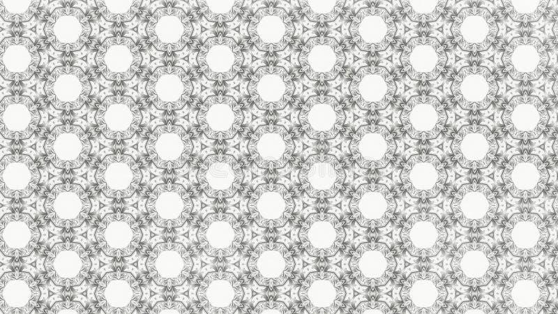 Ilustração elegante bonita do gráfico claro de Grey Decorative Geometric Background Pattern ilustração stock