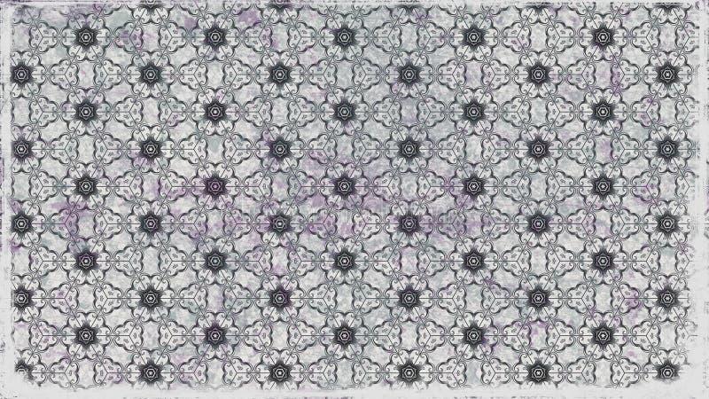 Ilustração elegante bonita do gráfico do teste padrão de Grey Decorative Floral Ornament Background ilustração royalty free
