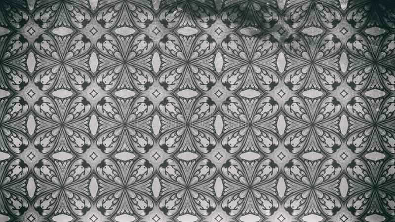 Ilustração elegante bonita do teste padrão escuro de Gray Vintage Decorative Ornament Background ilustração royalty free