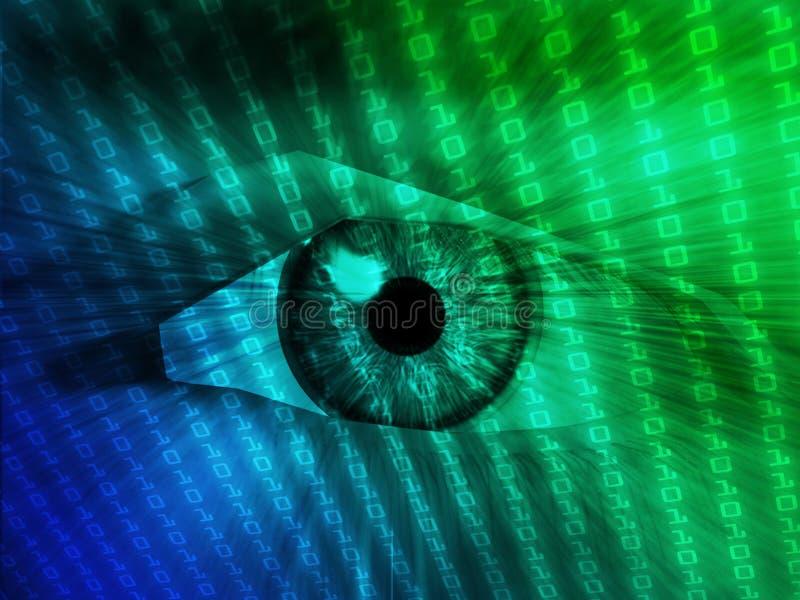 Ilustração eletrônica do olho ilustração do vetor