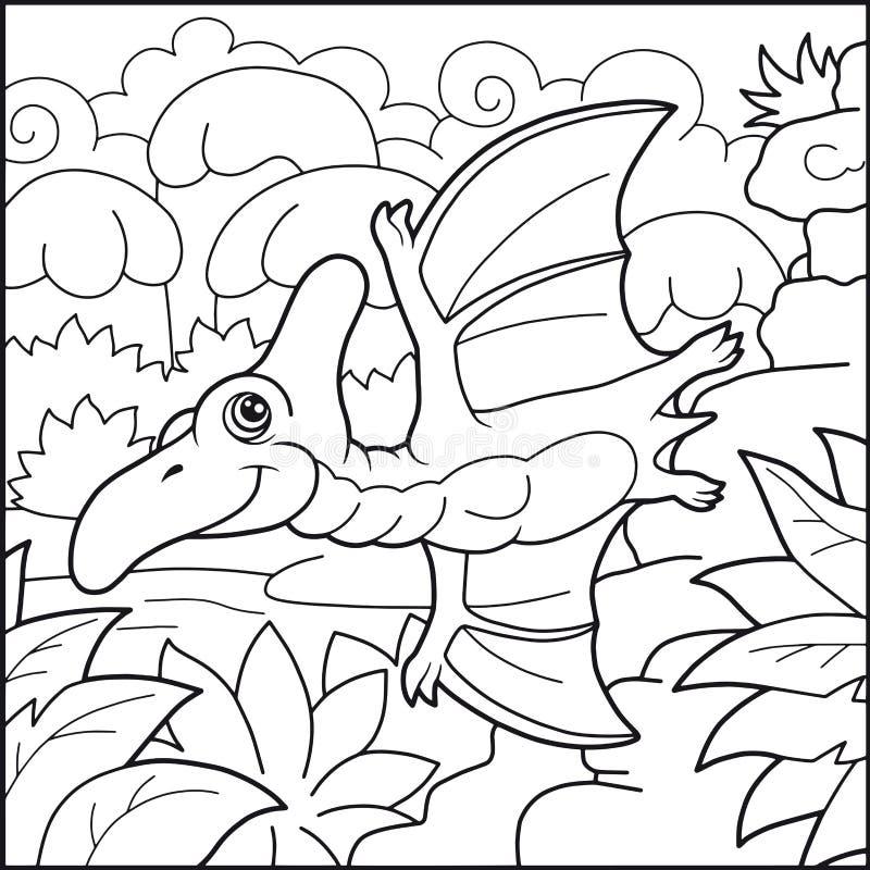 Ilustração engraçada do pterodátilo bonito ilustração stock