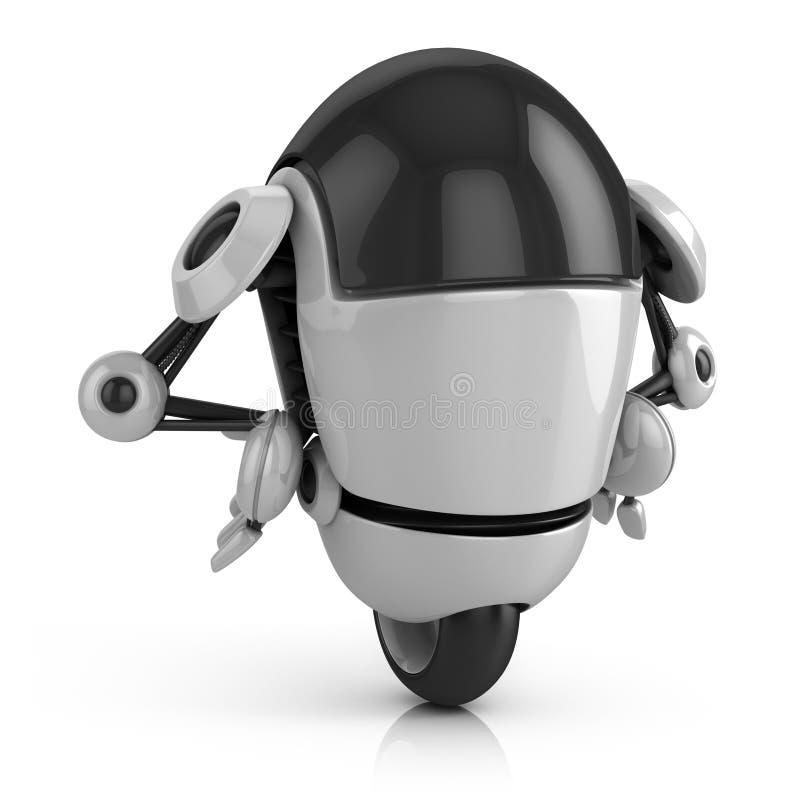 Ilustração engraçada do robô 3d ilustração do vetor