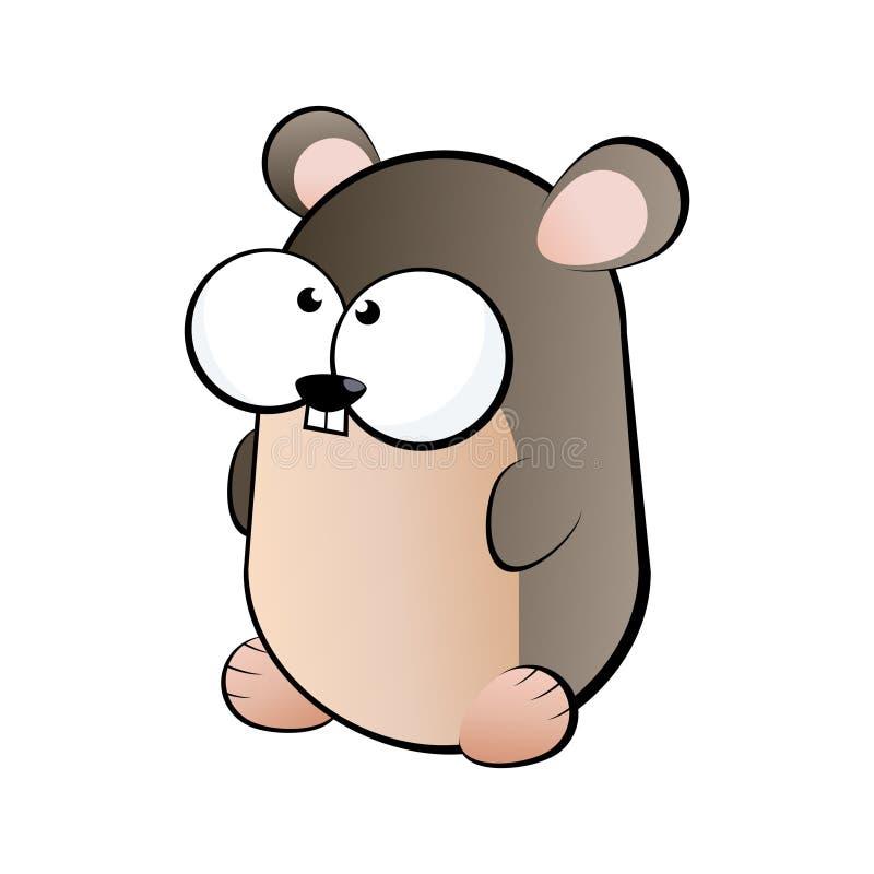 Ilustração engraçada do roedor