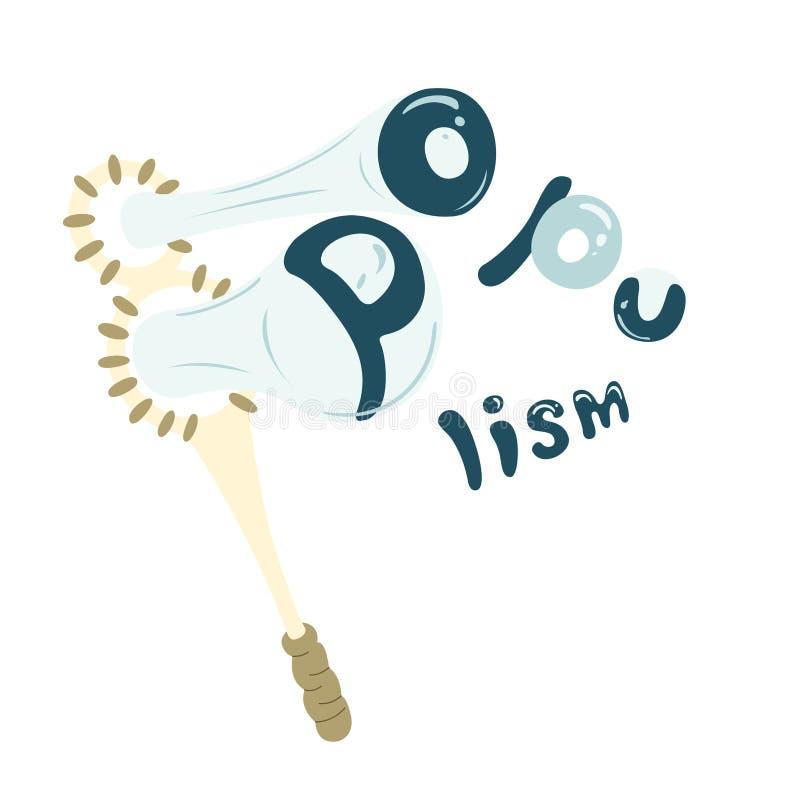 Ilustração engraçada sobre o populismo As bolhas de sabão simbolizam mentiras ilustração royalty free