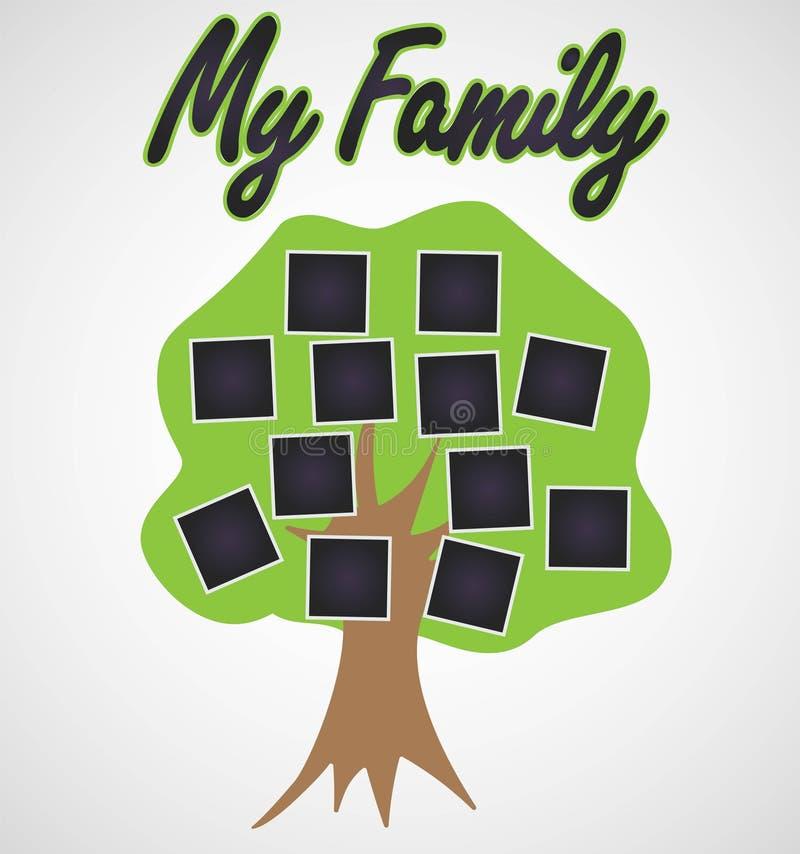Ilustração eps 10 do vetor do vintage do molde da árvore genealógica ilustração do vetor