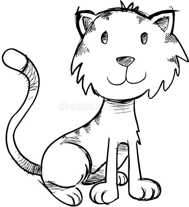 Ilustração esboçado do vetor do gato ilustração do vetor