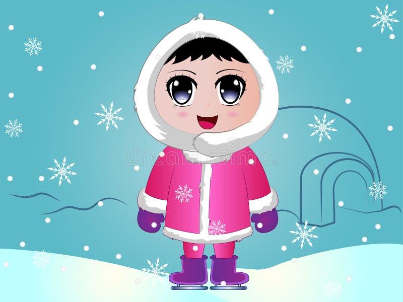 Ilustração Eskimo do vetor do bebê ilustração stock