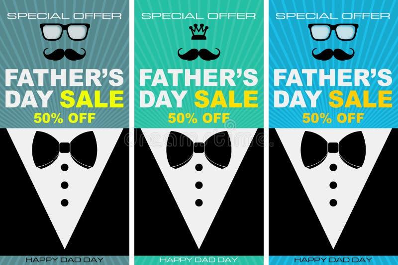 Ilustração especial para o dia de pai, imagem de compra do desconto ilustração stock
