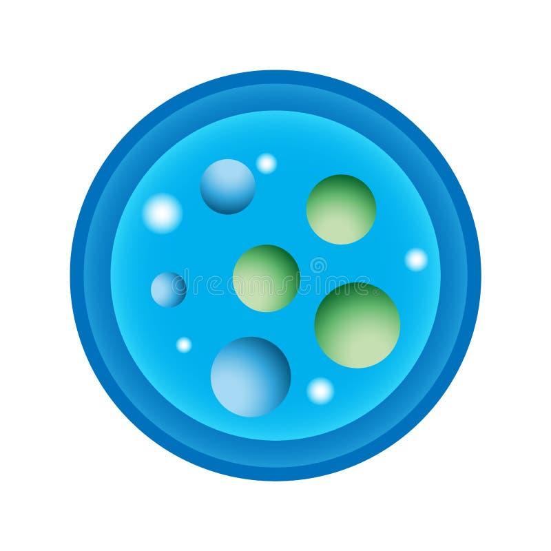Ilustração esquemática de um prato de Petri com cultura bacteriológica fotografia de stock royalty free