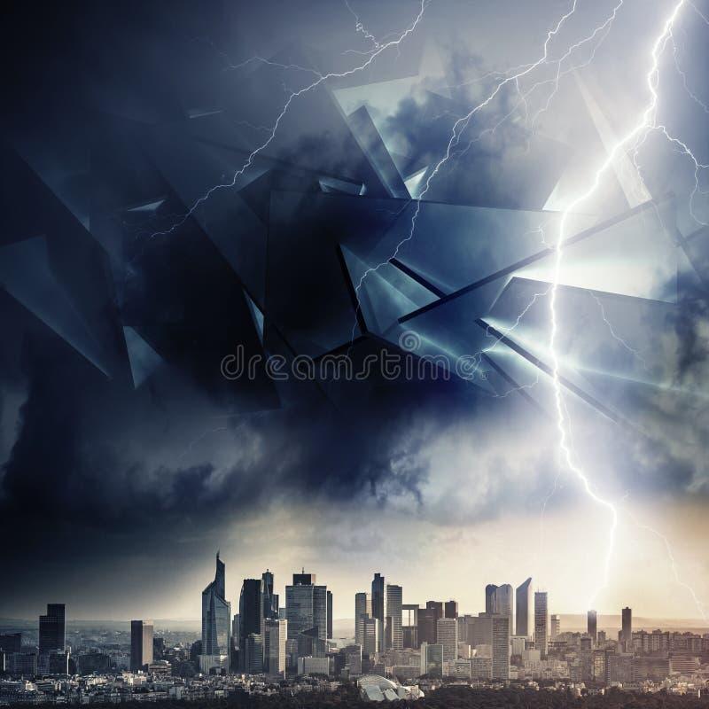 Ilustração estrangeira do conceito da invasão, tempestade ilustração do vetor