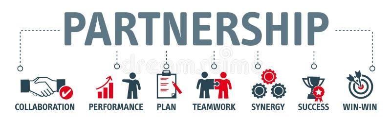 Ilustração estratégica do conceito da parceria ilustração do vetor