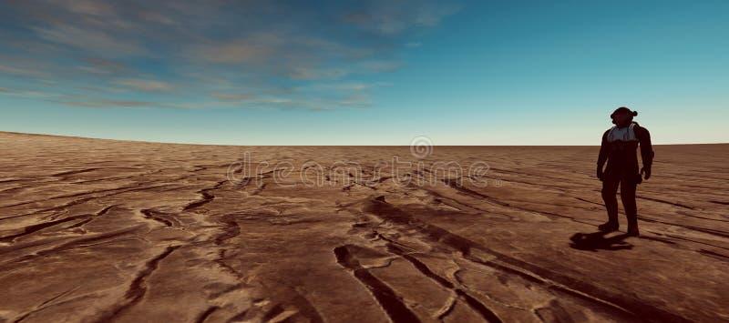 A ilustração extremamente detalhada e realística da alta resolução 3d de uma terra gosta do planeta ilustração stock