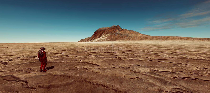 A ilustração extremamente detalhada e realística da alta resolução 3d de uma terra gosta do planeta ilustração do vetor