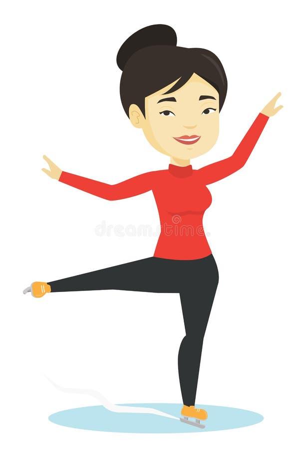 Ilustração fêmea do vetor do patinador artística ilustração stock