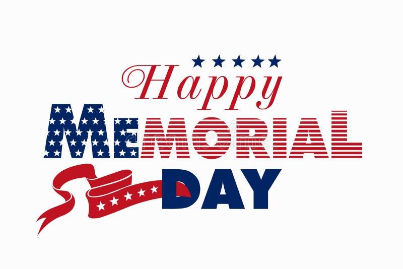 Ilustração feliz de Memorial Day imagens de stock