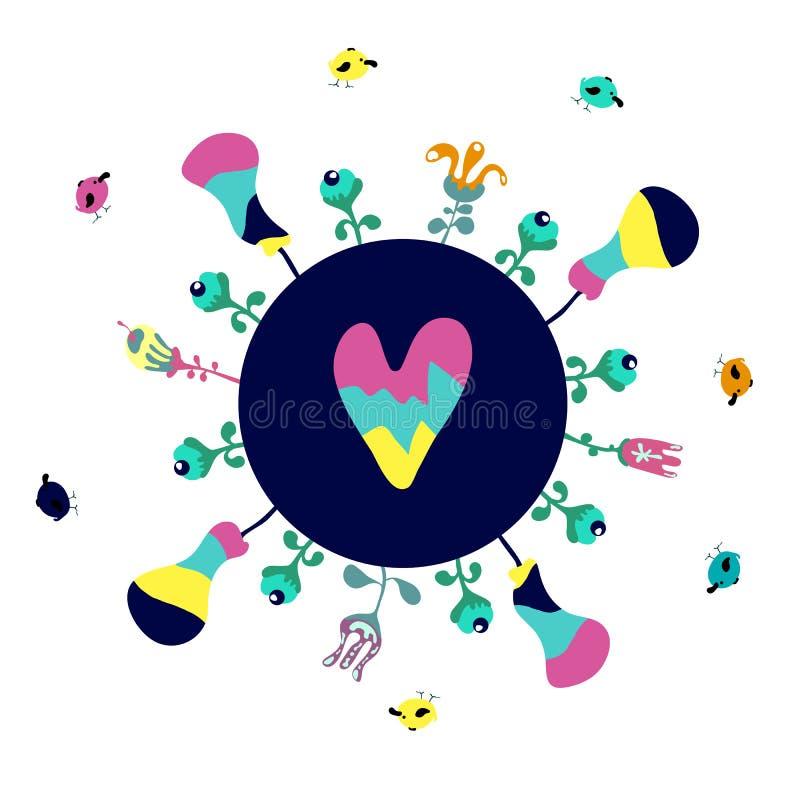 Ilustração feliz do Dia da Terra para a celebração da segurança do ambiente - vetor ilustração do vetor