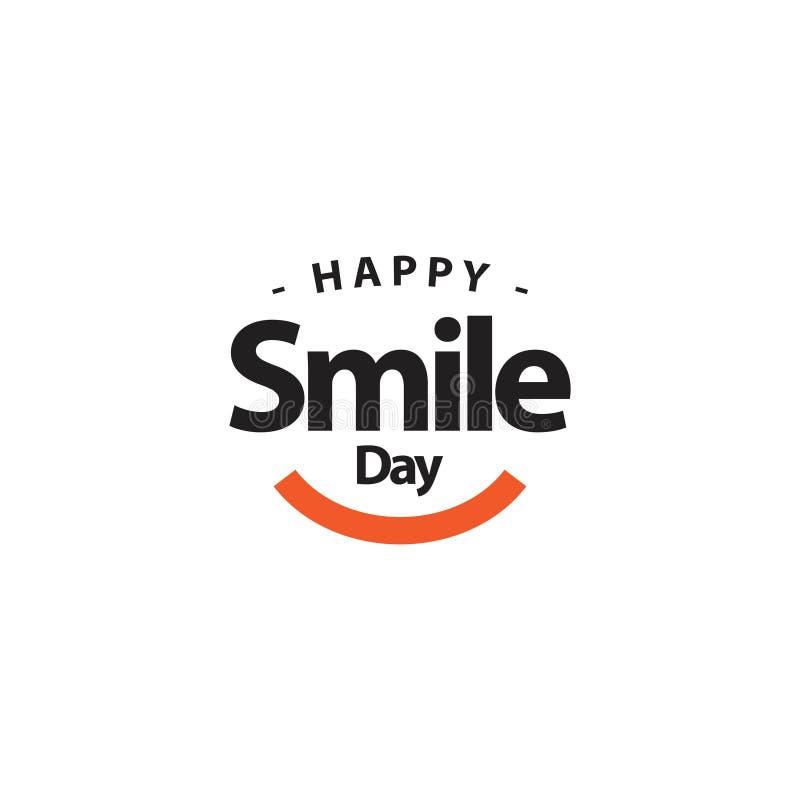 Ilustração feliz do projeto do molde do vetor do dia do sorriso ilustração stock