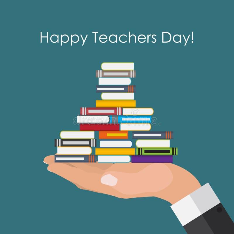 Ilustração feliz do vetor do fundo do conceito do dia dos professores ilustração do vetor