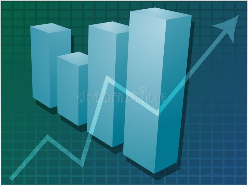 Ilustração financeira do gráfico de barras ilustração do vetor