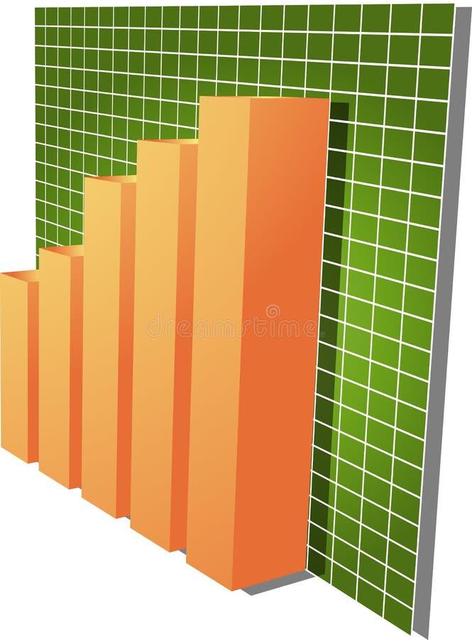 Ilustração financeira do gráfico de barras ilustração stock