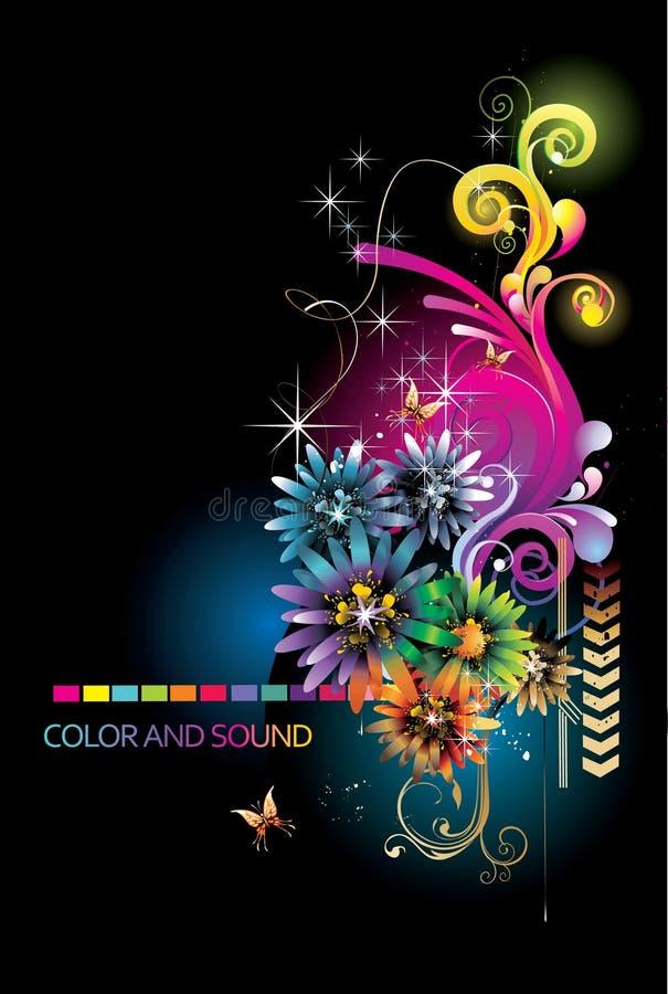 Ilustração floral abstrata ilustração royalty free