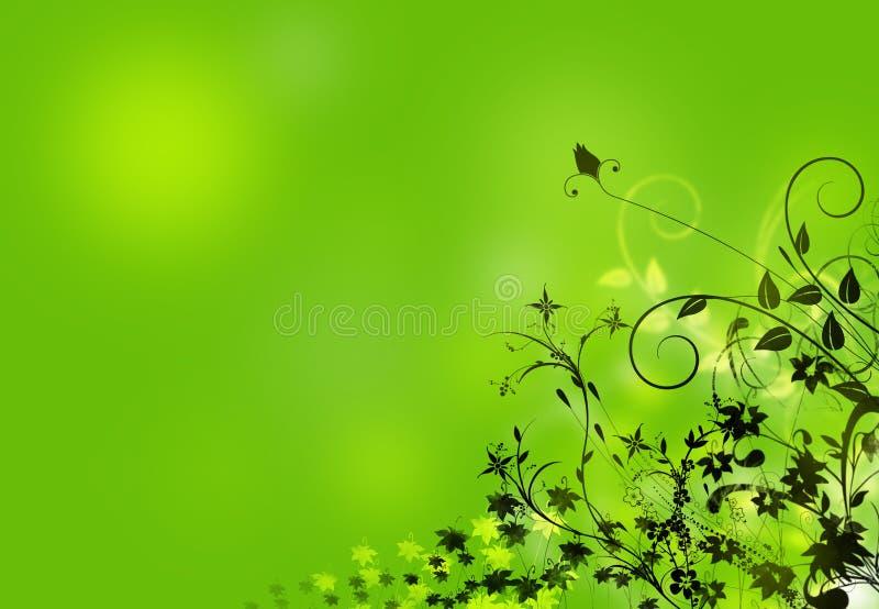 Ilustração floral abstrata ilustração stock