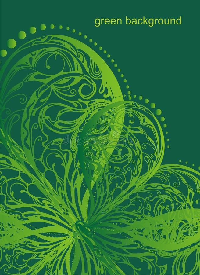 Ilustração floral abstrata do vetor ilustração do vetor