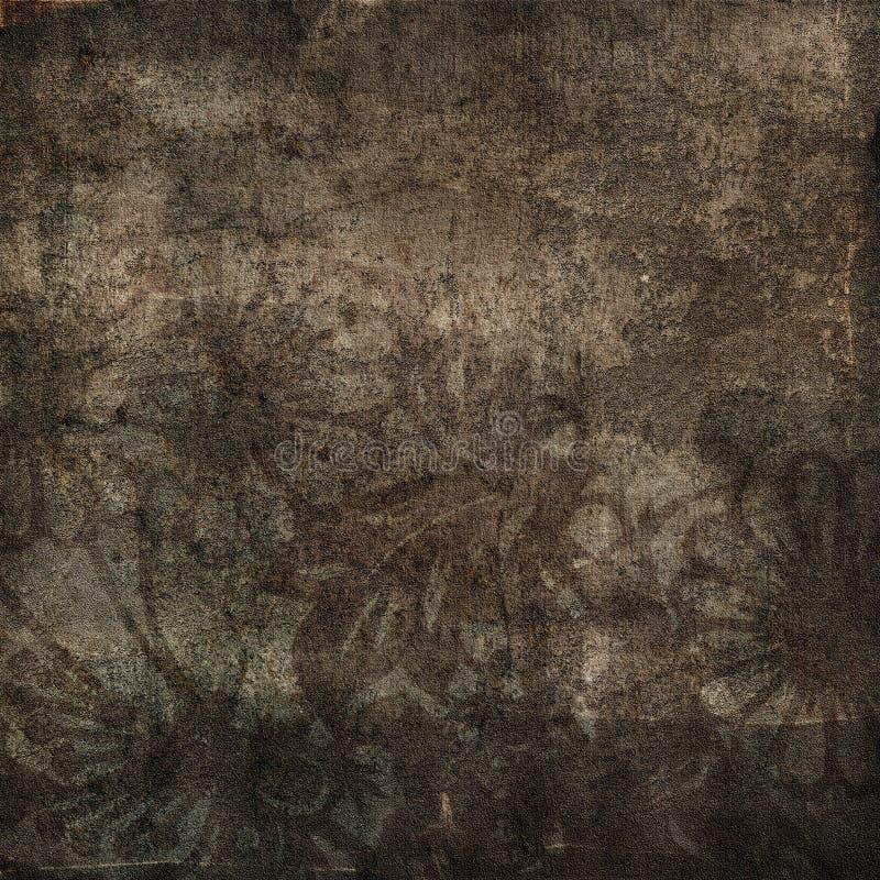 Ilustração floral do grunge fotografia de stock royalty free