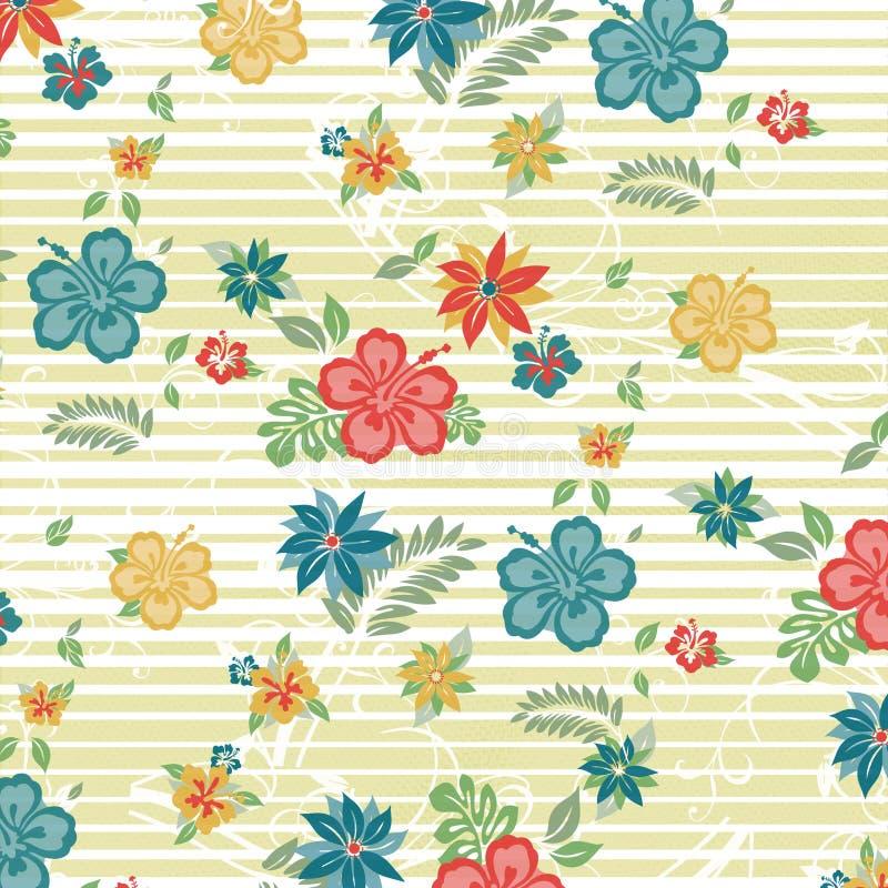 Ilustração floral do teste padrão ilustração royalty free