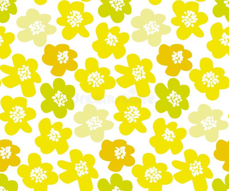 Ilustração floral do vetor do verão ensolarado da cor do limão ilustração royalty free
